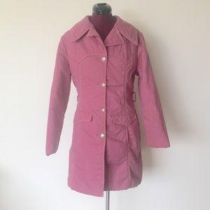 Vintage 60s Pink Coat Western Style Jacket M